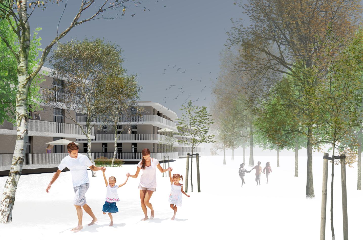 Achitekturwettbewerb Woa Grune Allee Villach Toralf Fercher Architekt